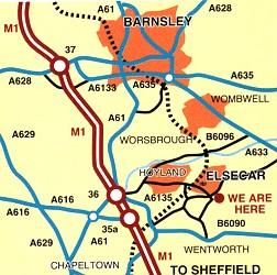 map to Elsecar